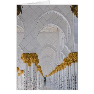 Sheikh Zayed Grand Mosque columns,Abu Dhabi Card