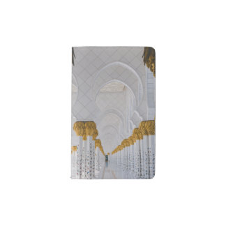 Sheikh Zayed Grand Mosque columns,Abu Dhabi Pocket Moleskine Notebook