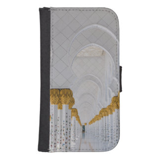 Sheikh Zayed Grand Mosque columns,Abu Dhabi Samsung S4 Wallet Case