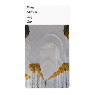 Sheikh Zayed Grand Mosque columns,Abu Dhabi Shipping Label