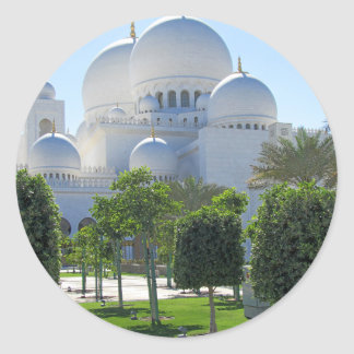 Sheikh Zayed Grand Mosque Domes Classic Round Sticker