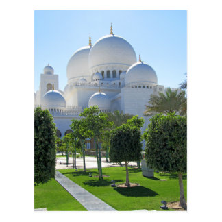 Sheikh Zayed Grand Mosque Domes Postcard