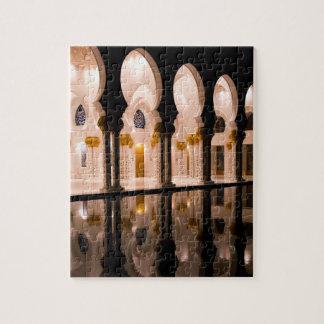 Sheikh Zayed Grand mosque in Abu Dhabi, United Ara Jigsaw Puzzle