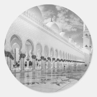 Sheikh Zayed Mosque Round Sticker