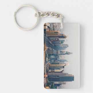 Sheikh Zayed Road Double-Sided Rectangular Acrylic Keychain