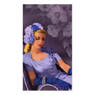 Sheila - 1940s Evening Wear in Lavender and Mauve Business Card