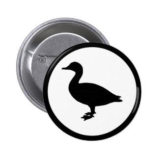 Sheldrake Duck 2 Inch Round Button