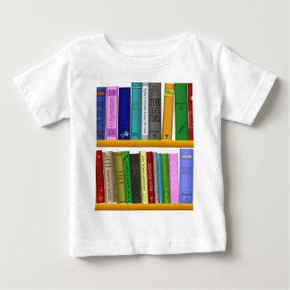 shelf books library reading baby T-Shirt