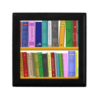 shelf books library reading gift box