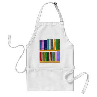 shelf books library reading standard apron