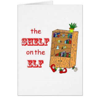 Shelf on the Elf Funny Christmas Card