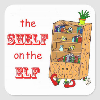 Shelf on the Elf Funny Holiday Stickers
