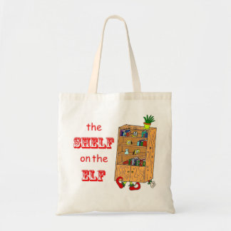 Shelf on the Elf Funny Holiday Tote Bag