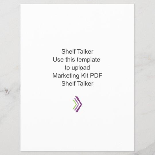 Shelf Talker Template   Shelf Talker Marketing Kit Template Zazzle Ca