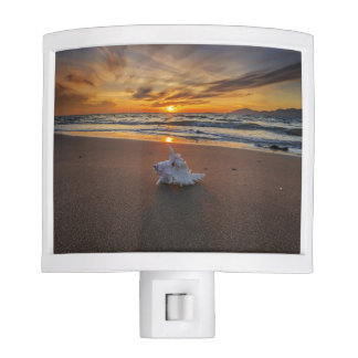 Shell At The Beach At Sunset | Kos Island Night Light