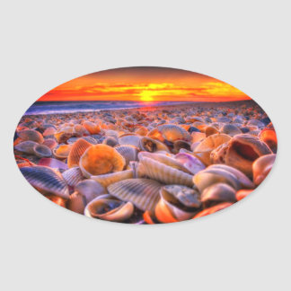 Shell Beach and Vivid Sunset Stickers