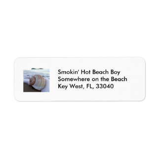 Shell, Beach Return Address Label