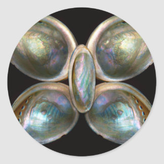 Shell - Conchology - Devine Pearlescence Round Sticker