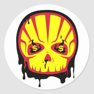 Shell corpocracy sticker