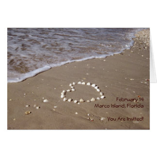 Shell Heart in the Sand (horizontal) Card