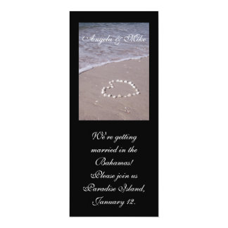 Shell Heart in the sand Invitations