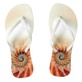 Shell Of Life Flip Flops