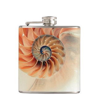 Shell Of Life Hip Flask