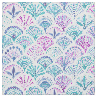 SHELL OUT Boho Mermaid Scales Fabric