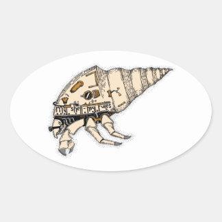 Shell Oval Sticker