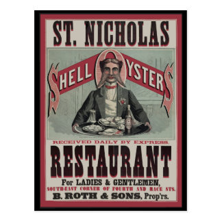 Shell Oyster Restaurant Postcard