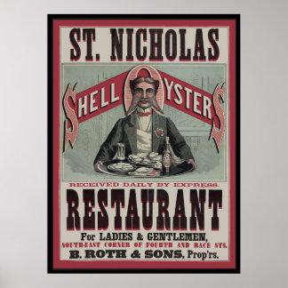 Shell Oyster Restaurant Poster