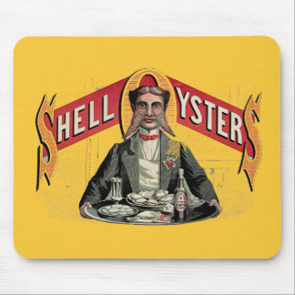 Shell Oysters Vintage Advertisement Mousepads