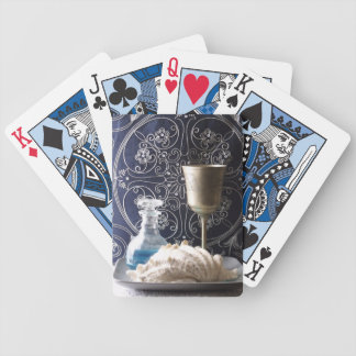 Shell, Pattern, And Goblet Still Life Photo Poker Deck