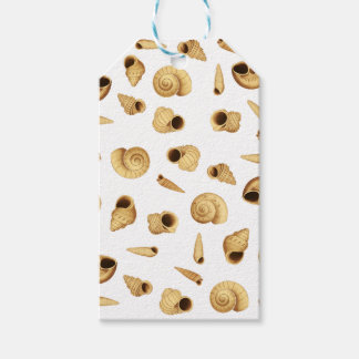 Shell pattern pack of gift tags