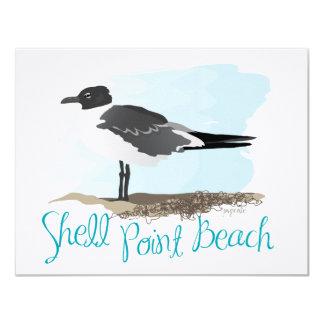Shell Point Beach Gull Card