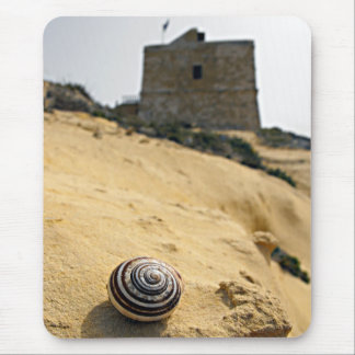 Shell, Sand and Tower Mouse Pad