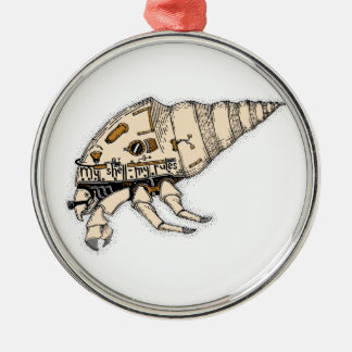 Shell Silver-Colored Round Ornament