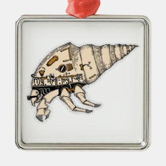 Shell Silver-Colored Square Ornament