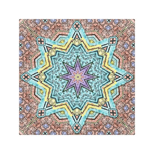 Shell Star Mandala Canvas Print