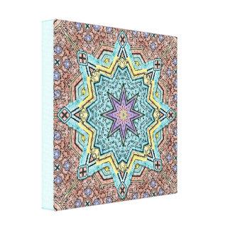Shell Star Mandala Canvas Print
