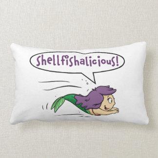 """""""Shellfishalicious!"""" Lumbar Throw Pillow"""