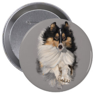 Shellie on the Move 4 Inch Round Button