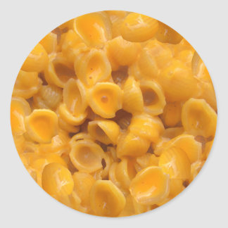 shells and cheese classic round sticker