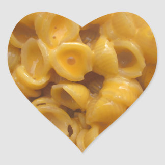 shells and cheese heart sticker