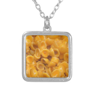 shells and cheese silver plated necklace