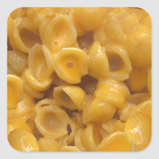 shells and cheese square sticker