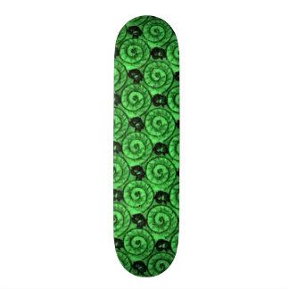 Shells and Flowers Green Skateboard Decks