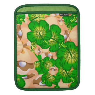 Shells and hibiscus sleeve for iPads