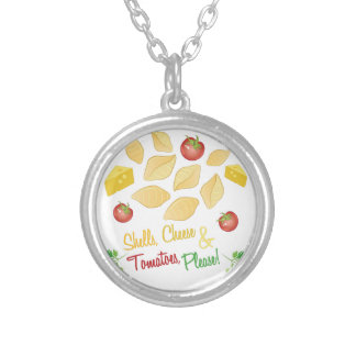 Shells Cheese Silver Plated Necklace