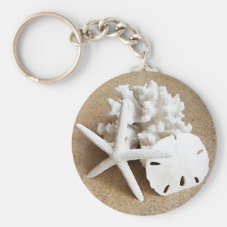 Shells in the Sand Keychain
